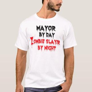 Alcalde del asesino del zombi del día por noche playera