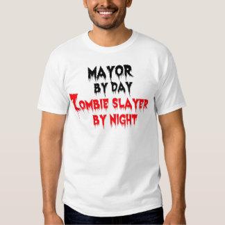 Alcalde del asesino del zombi del día por noche poleras