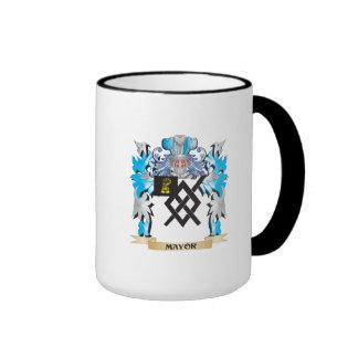 Alcalde escudo de armas - escudo de la familia taza a dos colores