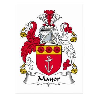 Alcalde Family Crest Tarjeta Postal
