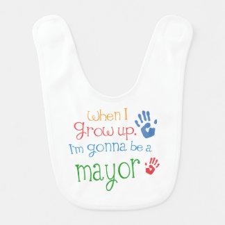 Alcalde futuro Baby Bib Baberos Para Bebé