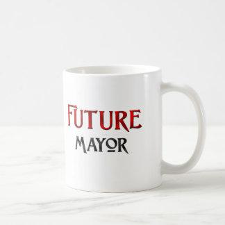 Alcalde futuro taza básica blanca