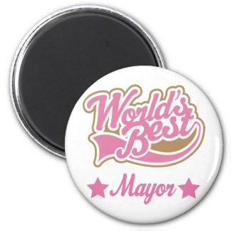 Alcalde Gift (mundos mejores) Imán Redondo 5 Cm