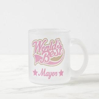 Alcalde Gift (mundos mejores) Taza De Cristal