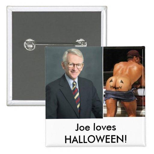 ¡alcalde, hh, lovesHALLOWEEN de Joe! Pin Cuadrada 5 Cm