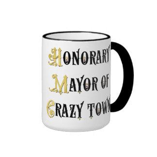 Alcalde honorario de la taza de café chistosa de