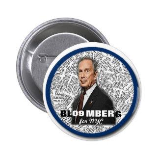 Alcalde Mike Bloomberg Pin de 2009 NY