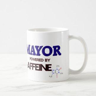 Alcalde Powered por el cafeína Taza Básica Blanca