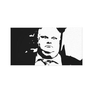 Alcalde que fuma Rob Ford de la grieta de Toronto Impresiones En Lienzo Estiradas