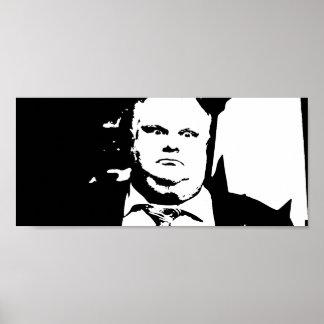 Alcalde que fuma Rob Ford de la grieta de Toronto Póster
