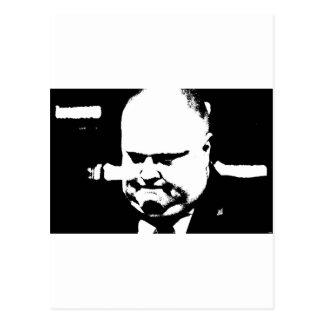 Alcalde que fuma Rob Ford de la grieta de Toronto Tarjeta Postal