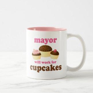 Alcalde regalo (divertido) taza de dos tonos