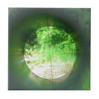 Alcance del francotirador azulejo cuadrado pequeño