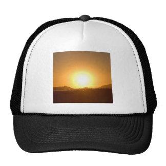 Alcance del fuego de la puesta del sol gorra