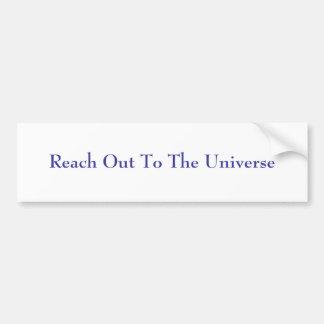 Alcance hacia fuera al universo pegatina para auto