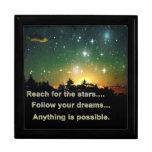 Alcance para el joyero de las estrellas cajas de regalo