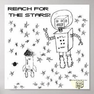 Alcance para el poster del bot del espacio de las