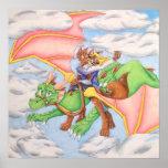 Alcance para el poster del dragón de las nubes