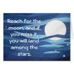 ¡Alcance para la luna! Tarjeta
