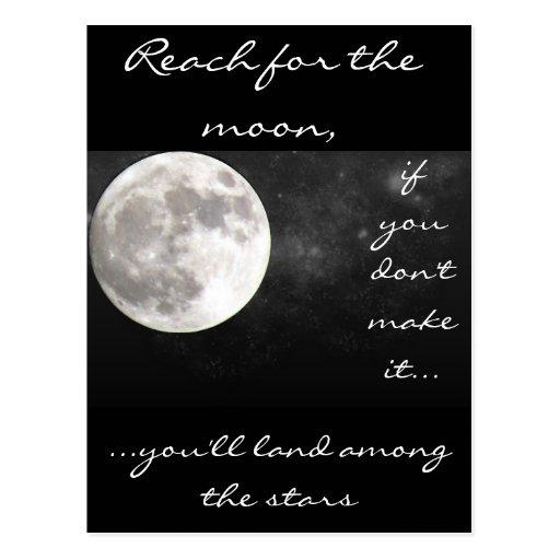 Alcance para la luna ..... tarjetas postales