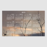 Alcance para la puesta del sol; Calendario 2013 Rectangular Pegatina