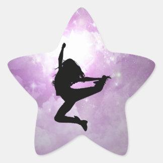 Alcance para las estrellas pegatina en forma de estrella