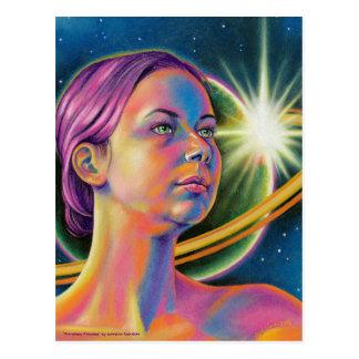 Alcance para las estrellas - postal inspirada