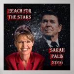 Alcance para las estrellas - Reagan y Palin Posters