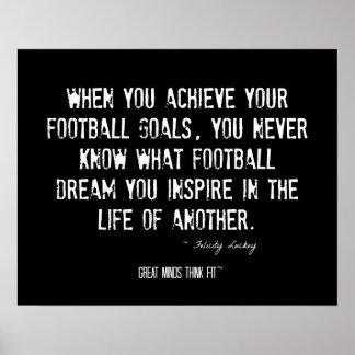 Alcance su poster de las metas del fútbol con cita