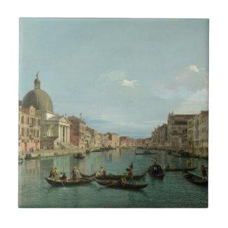 Alcances superiores del Gran Canal (por Canaletto) Tejas Cerámicas