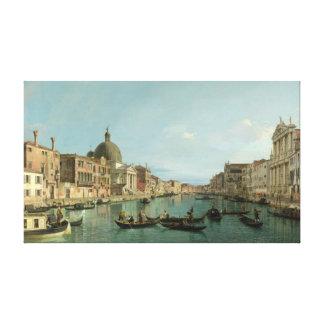Alcances superiores del Gran Canal por Canaletto Impresion De Lienzo