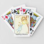 Alcanzar naipes de una decisión cartas de juego