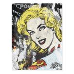 Alcaparras cómicas 1 de Supergirl Tarjetas Postales