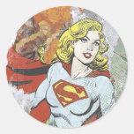 Alcaparras cómicas 2 de Supergirl Pegatina Redonda