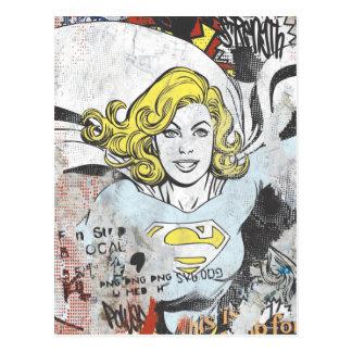 Alcaparras cómicas 3 de Supergirl Tarjetas Postales