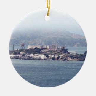 Alcatraz Adorno Navideño Redondo De Cerámica