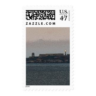 Alcatraz at Dusk Postage