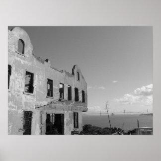 Alcatraz B y W Póster
