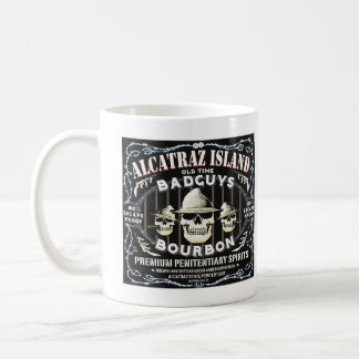 ALCATRAZ BAD GUYS BOURBON LABEL MUG