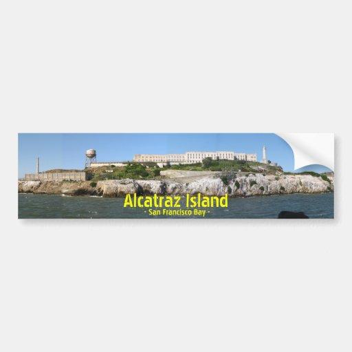 Alcatraz Bumpersticker Pegatina Para Auto