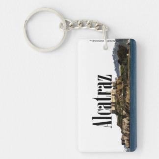 """Alcatraz, CA Skyline with """"Alcatraz"""" in the sky Keychain"""