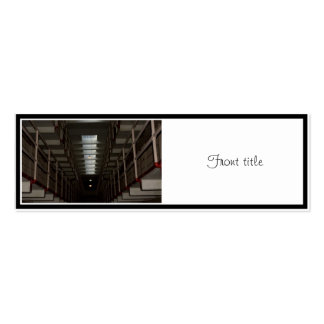 Alcatraz Cell Block - Upper Level Double-Sided Mini Business Cards (Pack Of 20)