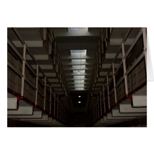Alcatraz Cell Block - Upper Level Greeting Card