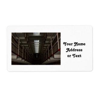 Alcatraz Cell Block - Upper Level Shipping Labels