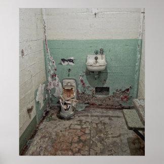 Alcatraz destrozó la célula póster