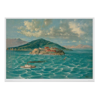 Alcatraz en San Francisco Bay (1856A) Póster