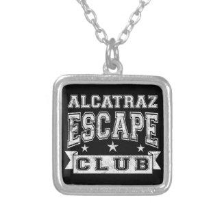 Alcatraz Escape Club Square Pendant Necklace