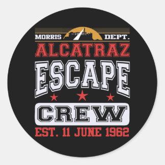 Alcatraz Escape Crew (Est. 11 June 1962) Classic Round Sticker
