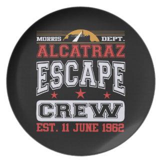 Alcatraz Escape Crew (Est. 11 June 1962) Melamine Plate