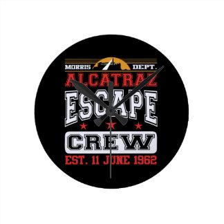 Alcatraz Escape Crew (Est. 11 June 1962) Round Clock